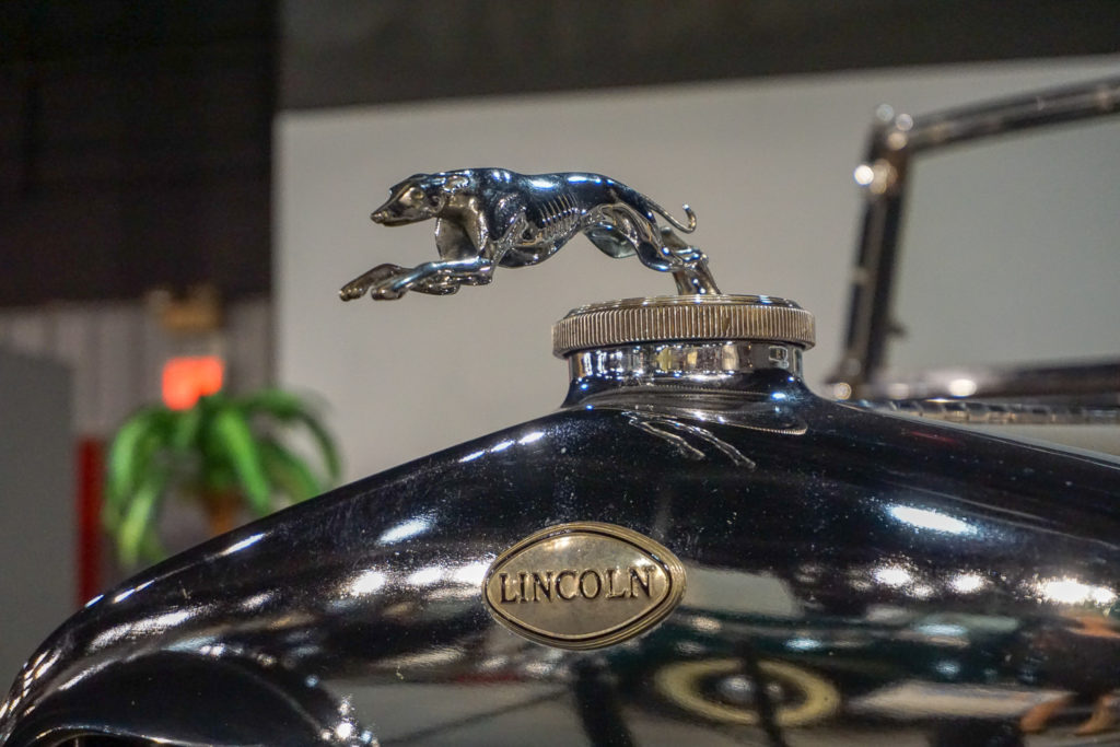 Classic Car Dog Hood Ornament at the Northeast Classic Car Museum in Norwich, New York