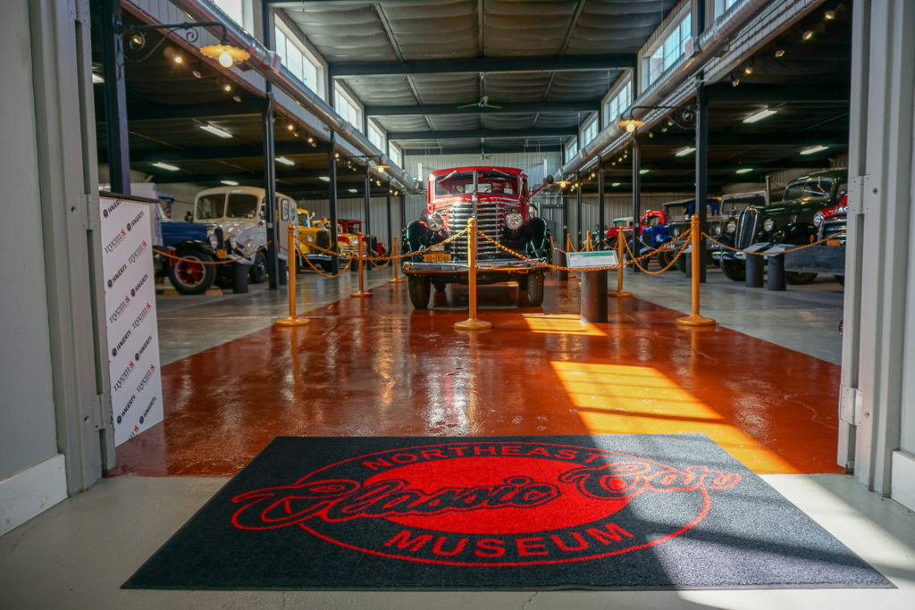 Truck Showroom at the Northeast Classic Car Museum in Norwich, New York