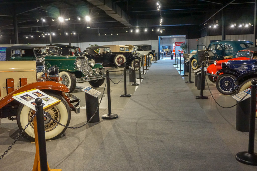 Antique Car Display at the Northeast Classic Car Museum in Norwich, New York
