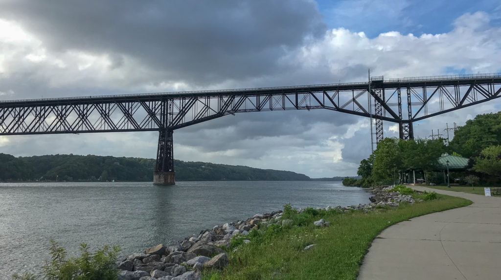 Walkway Over the Hudson From Below in Poughkeepsie, New York