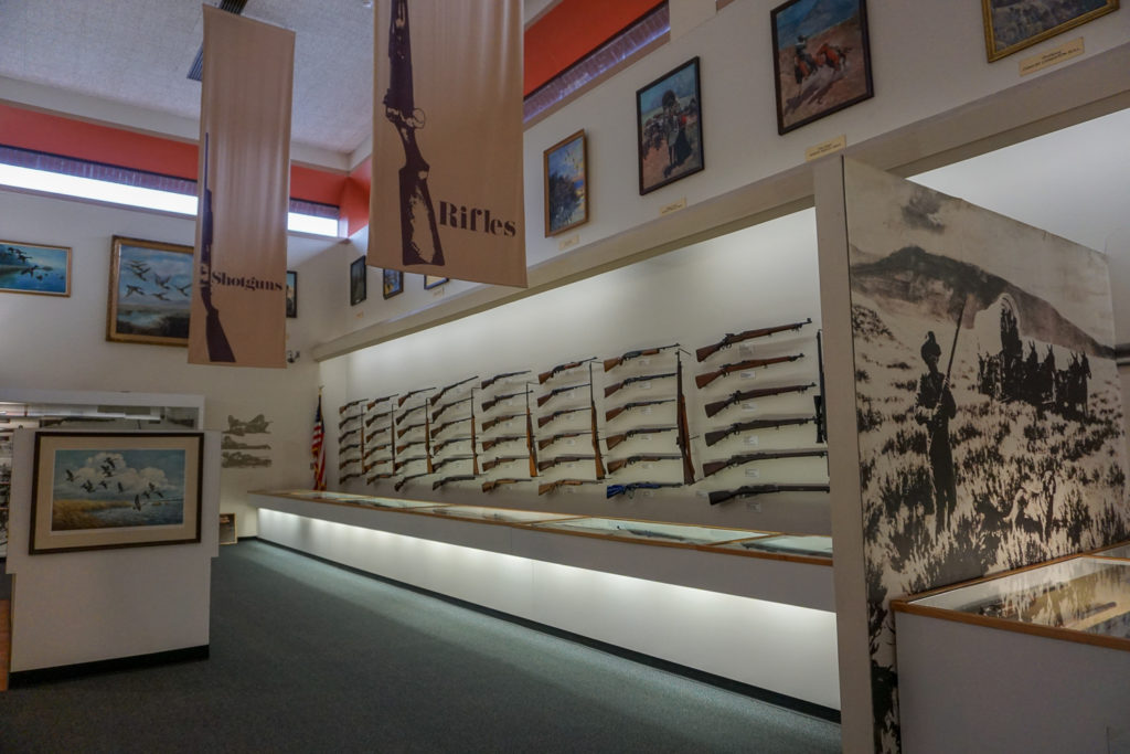 Rifle Exhibit at the Remington Arms Museum in Ilion, New York