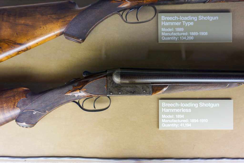 Rifle With Hand Checkering in the Remington Arms Museum in Ilion, New York