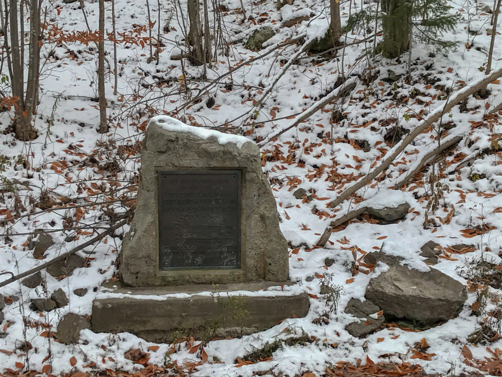 Stone Marker with Eliphalet Remington First Had Forge in Ilion, New York