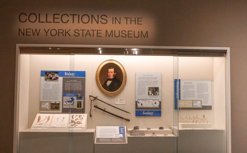 Collections Exhibit in the New York State Museum in Albany, New York
