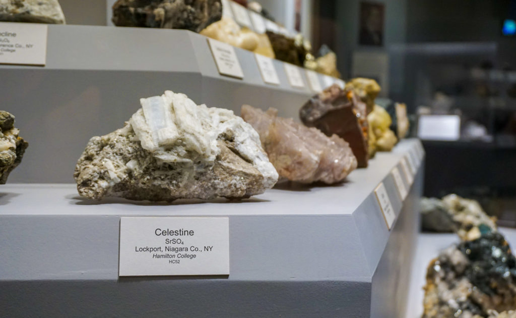 Rocks and Minerals in the New York State Museum in Albany, New York