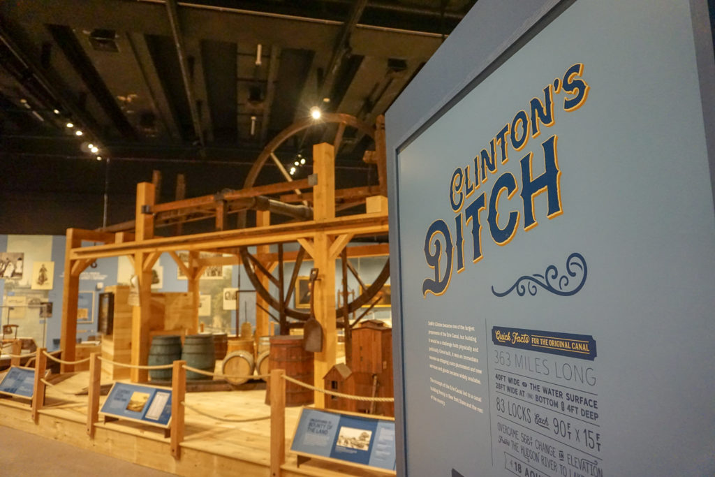 Clinton's Ditch Exhibit in the New York State Museum in Albany, New York