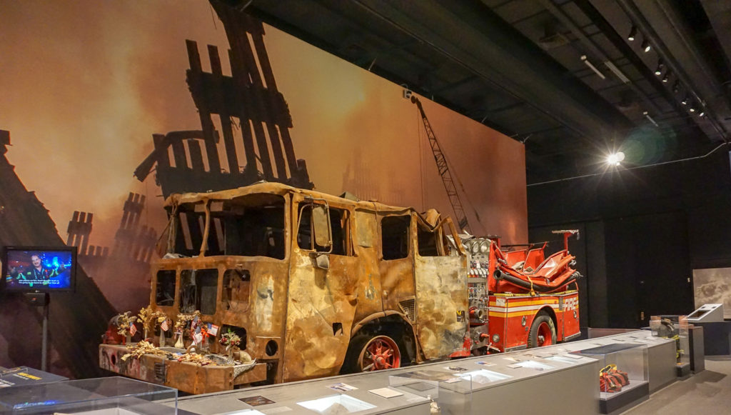 Fire Truck from 9/11 in the New York State Museum in Albany, New York
