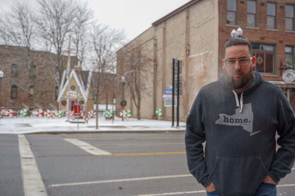 Chris Lindstrom, of Food About Town, in Medina, New York