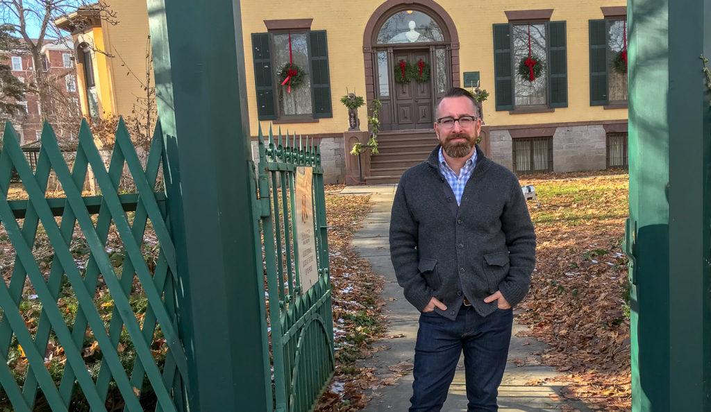 Chris Clemens at the William Seward House in Auburn