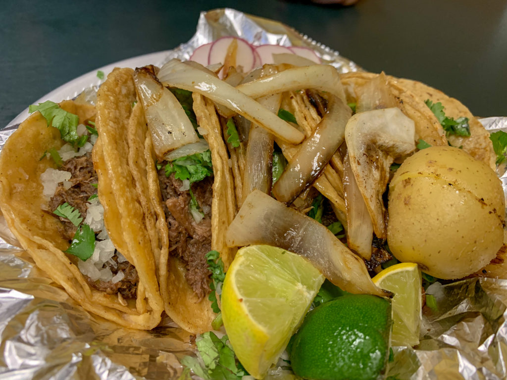Tacos from Lorenzo's Mexican Products in Albion, New York, Orleans County