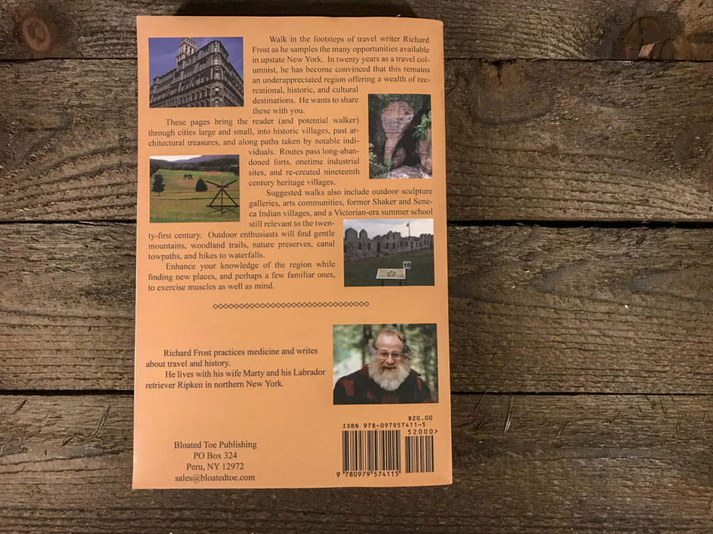 Back Cover of One Foot Forward: Walks In Upstate New York by Richard Frost