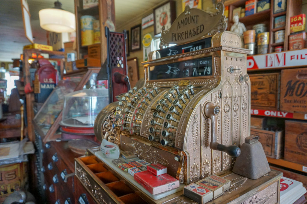 Inside Smith's General Store Museum in Genoa, New York, Cayuga County