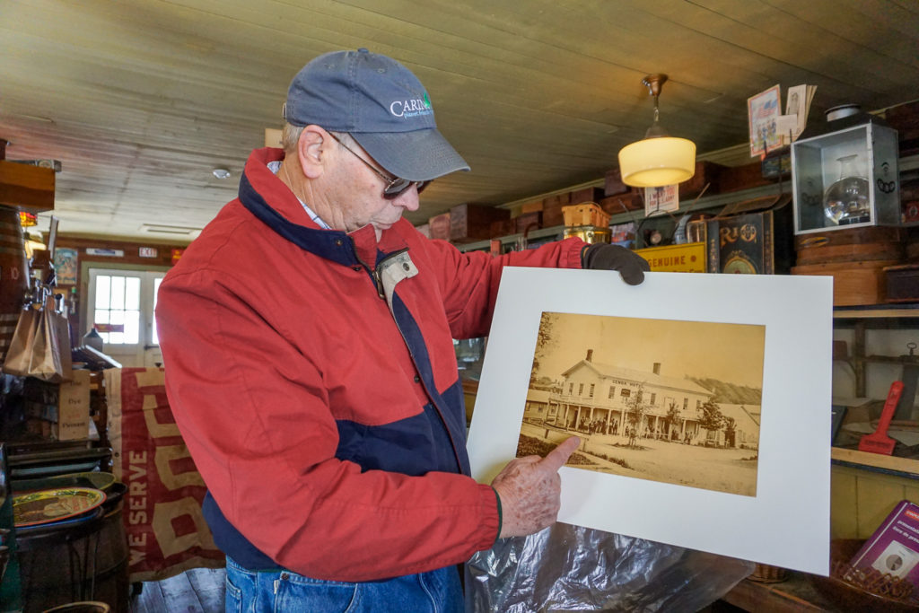 Pete Signor in Smith's General Store Museum in Genoa, New York, Cayuga County