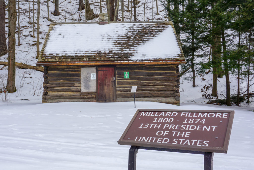 Replica Cabin of Millard Fillmore's Birthsite in Moravia, New York Cayuga County