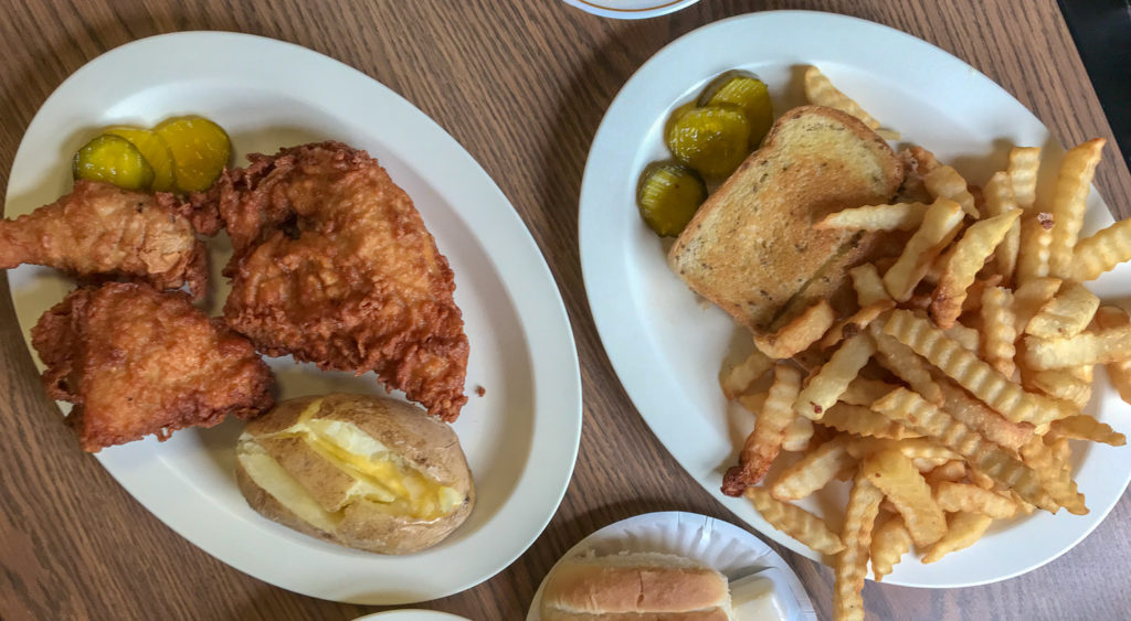 Fried Chicken and Patty Melt at Barb's Diner in Locke, New York, Cayuga County