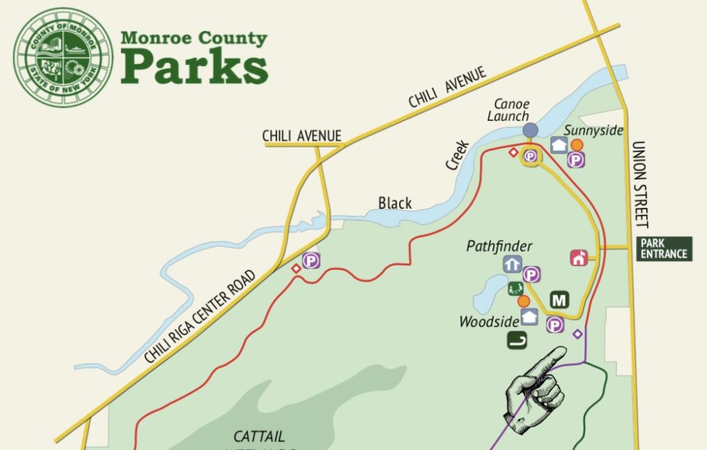 Black Creek Park Map With Fairy Trail Marking