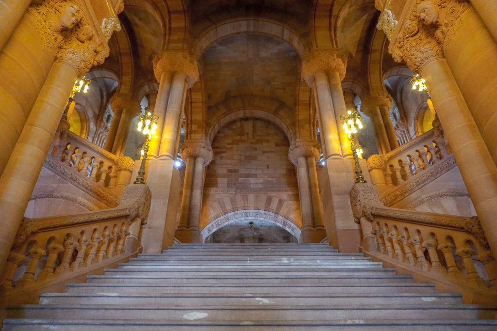 The Million Dollar Staircase in the New York State Capitol in Albany