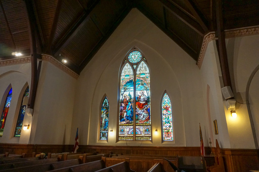 Stained Glass at Trinity Episcopal Church in Seneca Falls