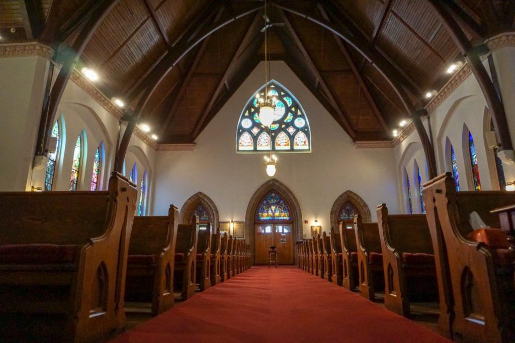 Inside the Trinity Episcopal Church in Seneca Falls, New York
