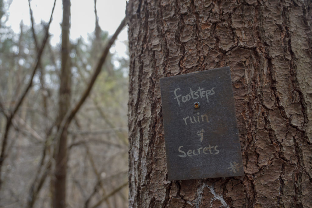 Fairy Trail Sign in Black Creek Park in North Chili, Monroe County