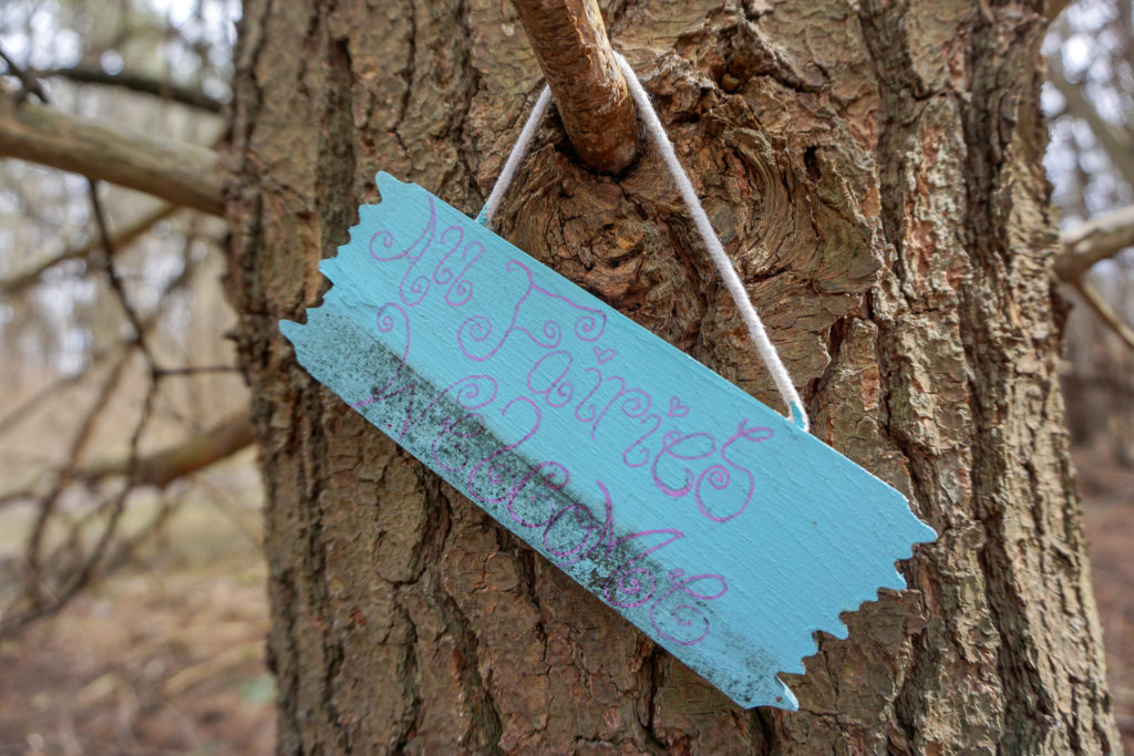 Fairy Sign on Trail in Black Creek in Monroe County