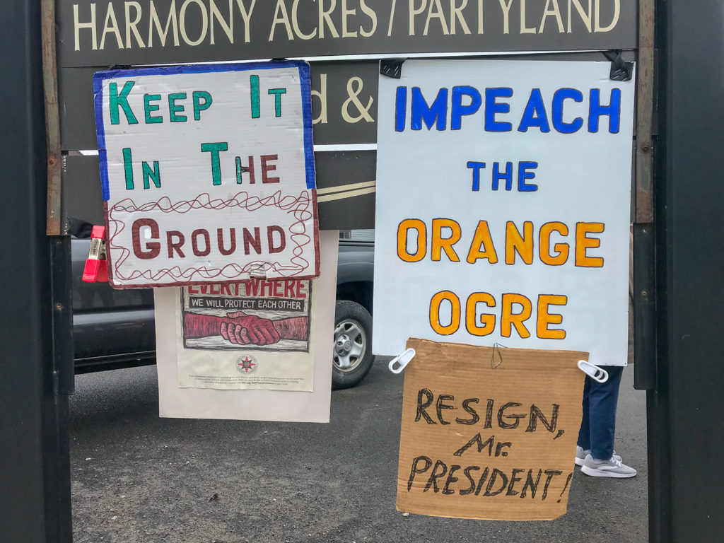 Protest Signs in Cobleskill, New York