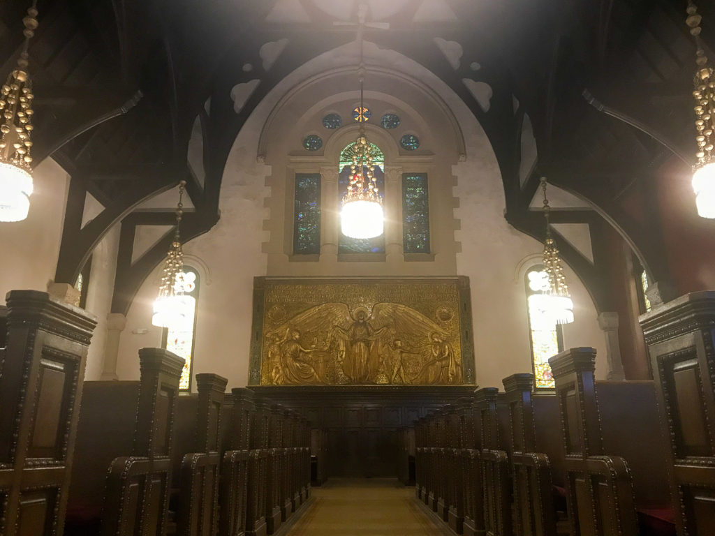 Inside the Willard Memorial Chapel in Auburn, New York