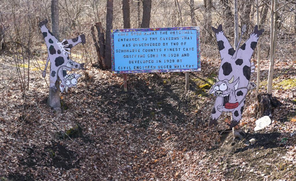 Original Entrance To Secret Caverns Where Cows Died