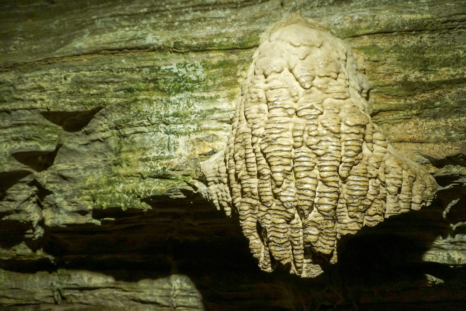 Rock Formation Inside Secret Caverns Near Cobleskill, New York