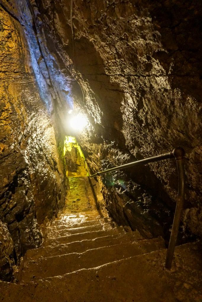 Steps Descending Into Secret Caverns in Upstate New York