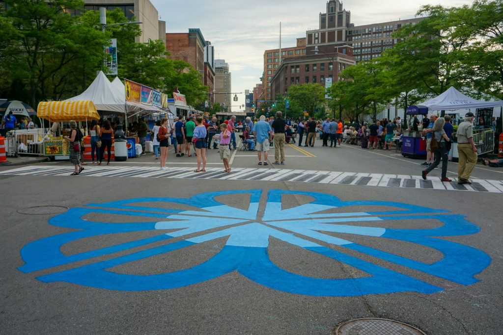 The Rochester Flower Logo by Shawn Dunwoody at the Rochester International Jazz Festival
