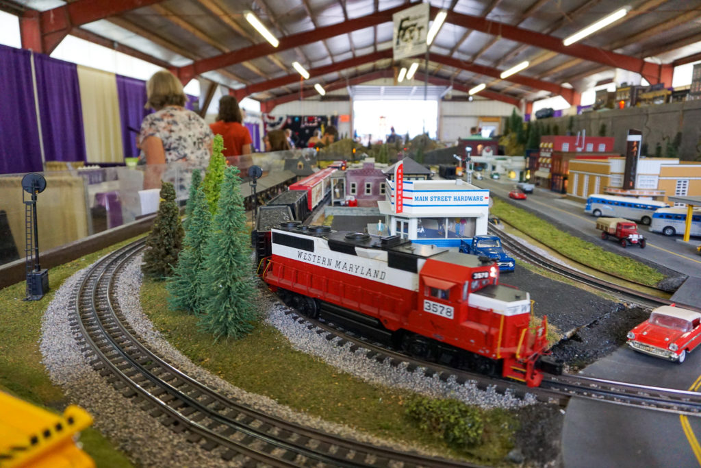 Train Display in the Commercial Building at the Wayne County Fair in Palmyra