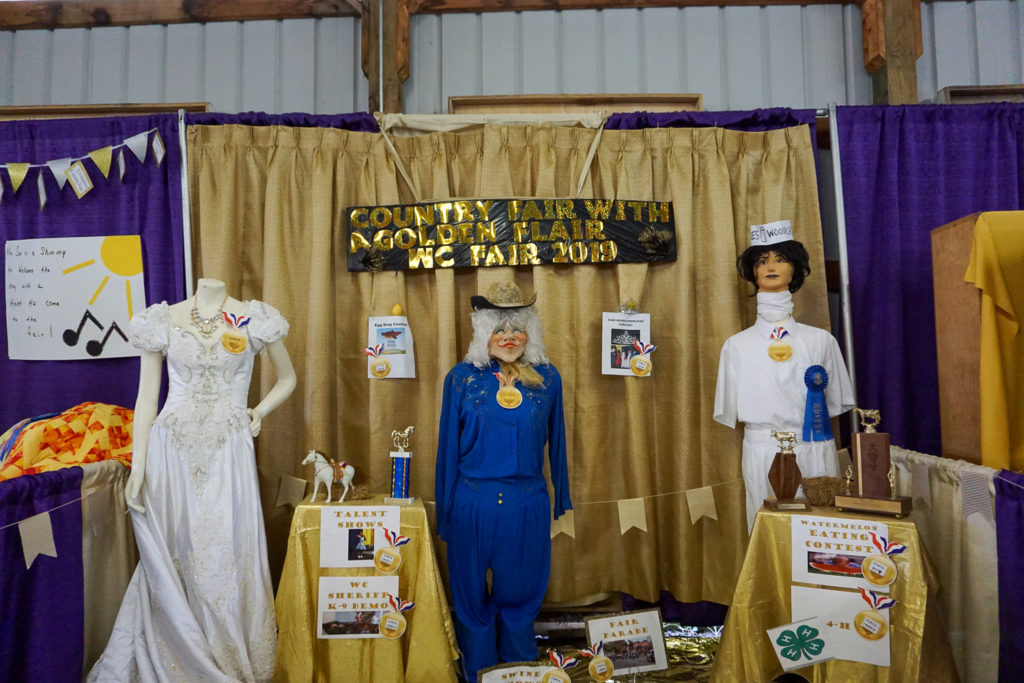 Display at the Wayne County Fair in Palmyra