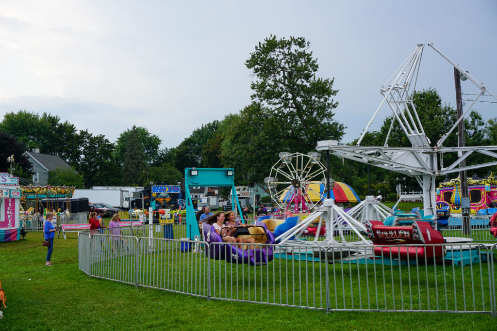 Rides at the Wayne County Fair in Palmyra