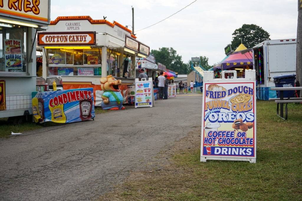 Food Stands at the Wayne County Fair in Palmyra