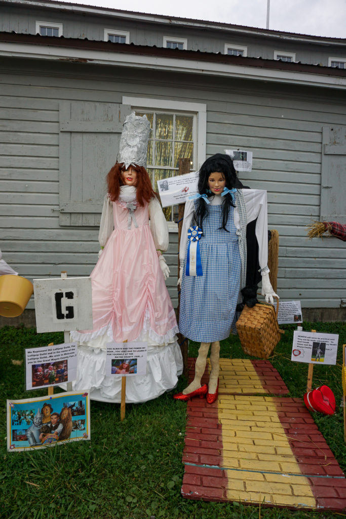 Scarecrow Contest at the Wayne County Fair in Palmyra