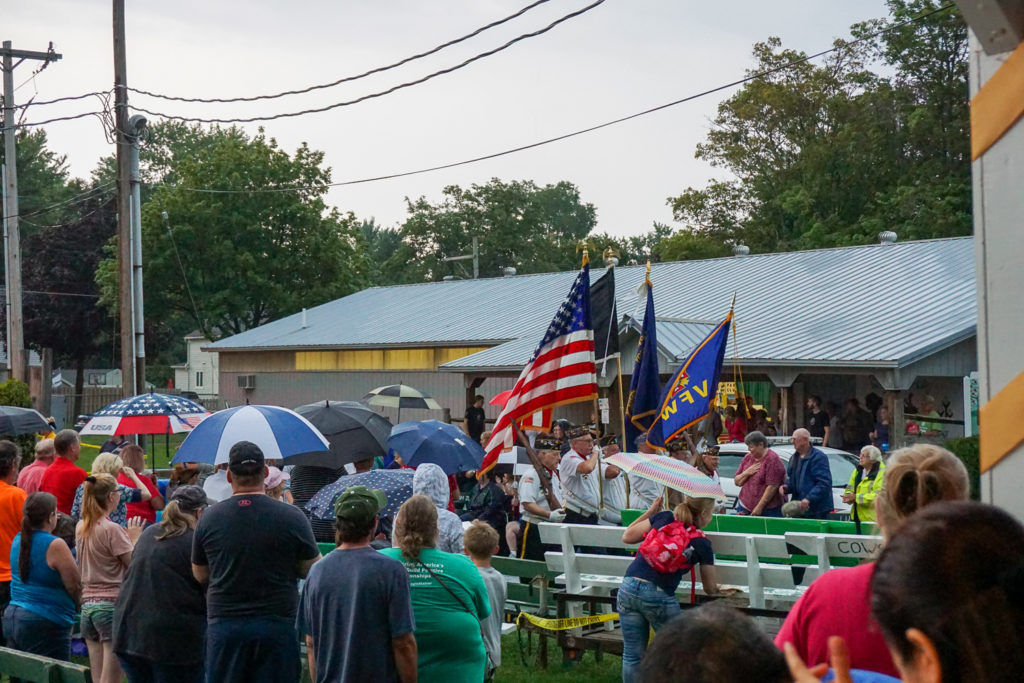 Wayne County Fair Parade With VFW and Rain in Palmyra