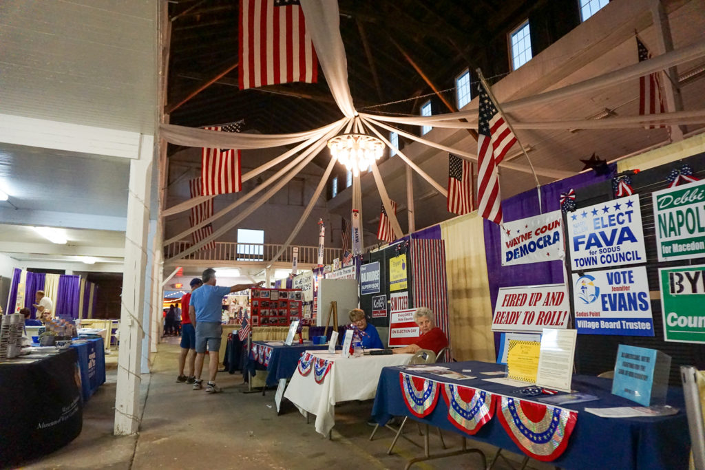 Exhibits in the Wayne County Fair in Palmyra