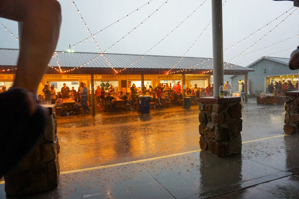 Rain At the Wayne County Fair in Palmyra