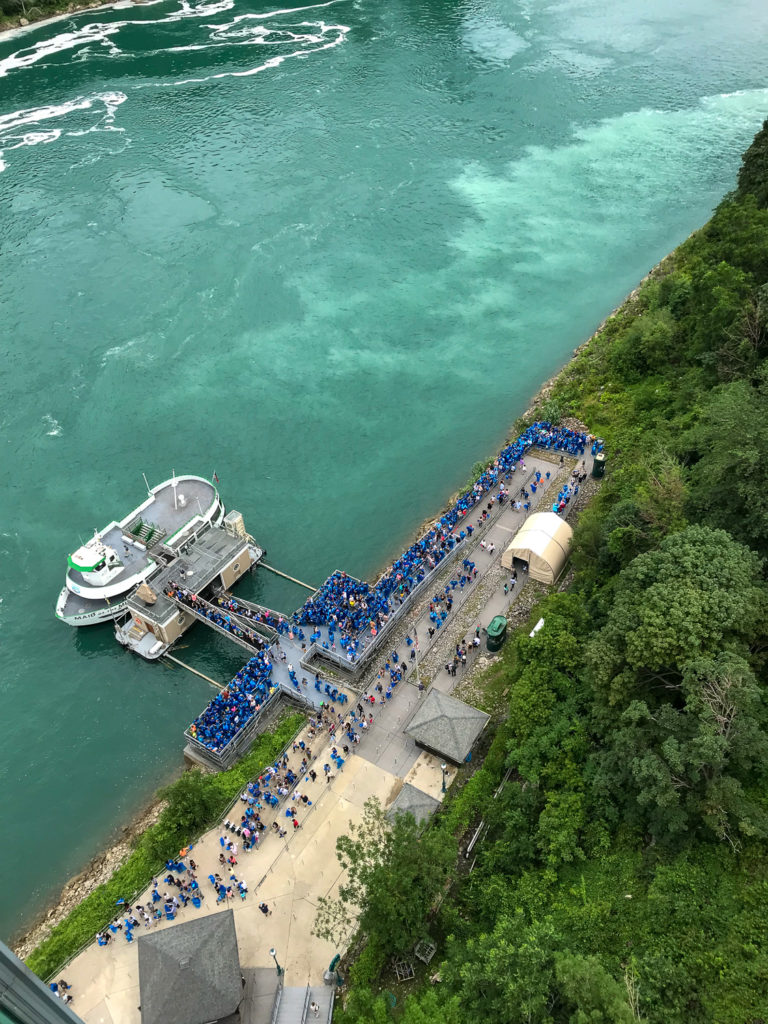Line At the Maid Of The Mist in Niagara Falls USA NY