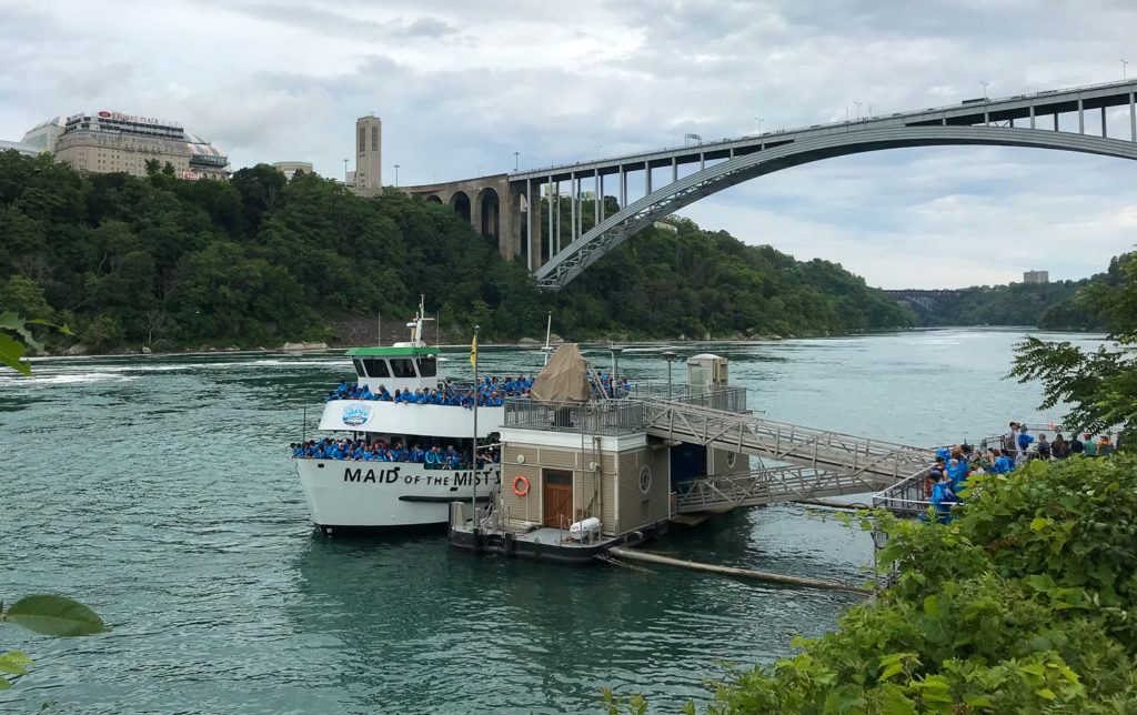 The Maid Of The Mist In Niagara Falls, New York