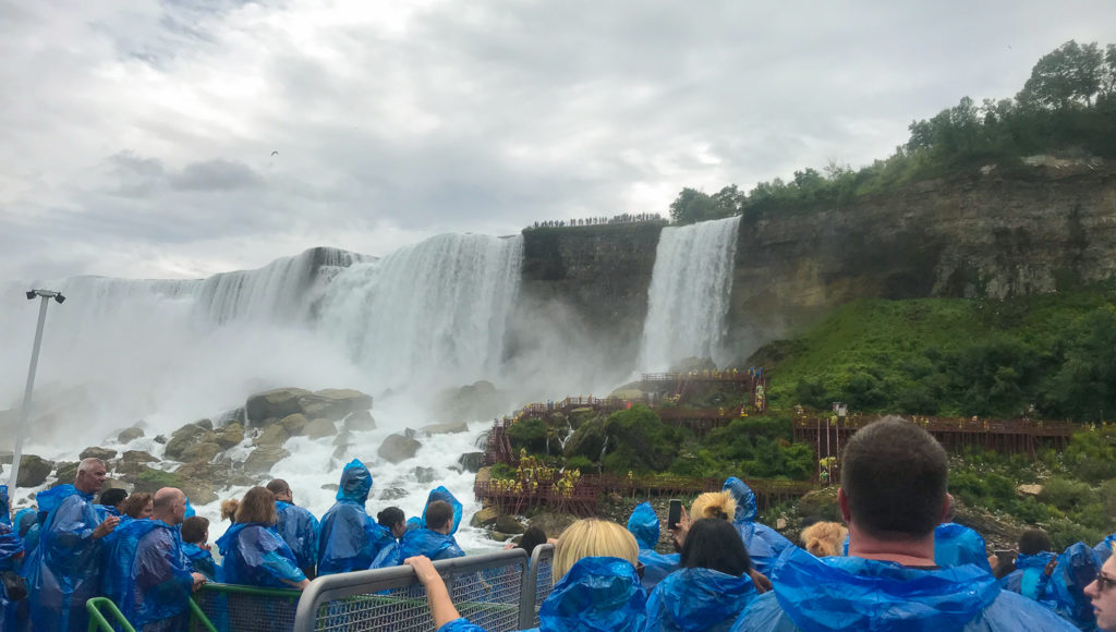 Viewing Cave Of The Winds From The Maid Of the Mist Boat Ride in Niagara Falls NY