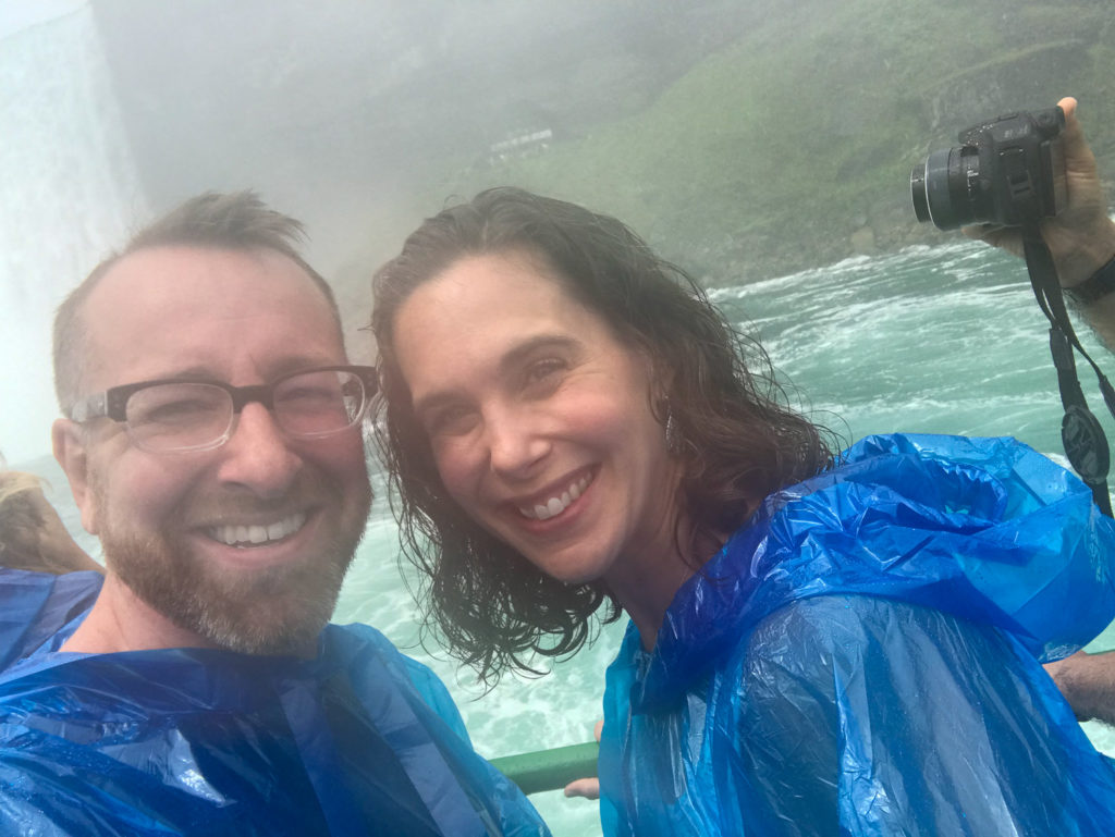 Riding the Maid Of the Mist in Niagara Falls New York USA