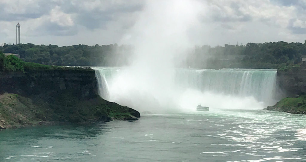 The Maid Of The Mist At the Base of Horseshoe Falls