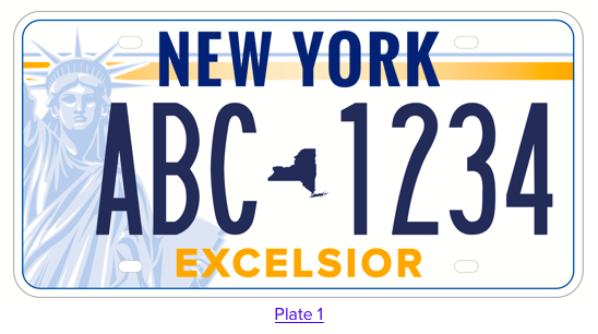New York State License Plate Design 1