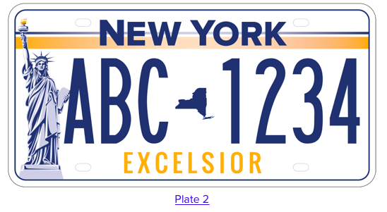 New York State License Plate #2