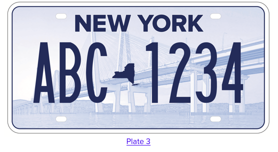 New York State License Plate #3