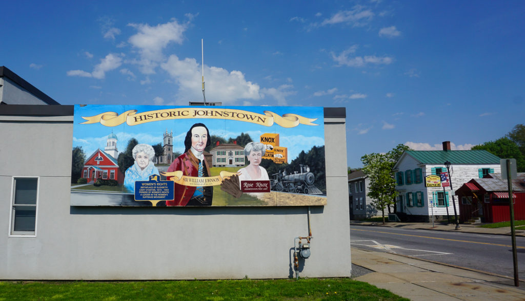 Historic Johnstown Mural in Johnstown, New York, Fulton County