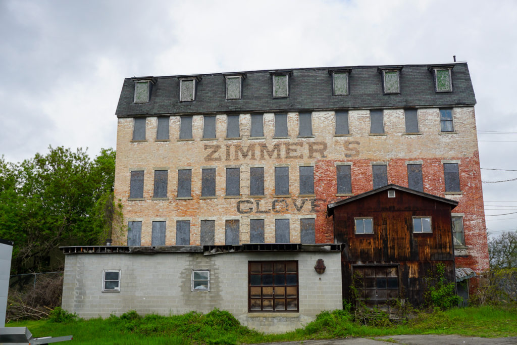 Former Zimmer's Gloves Factory in Downtown Gloversville, New York, Fulton County