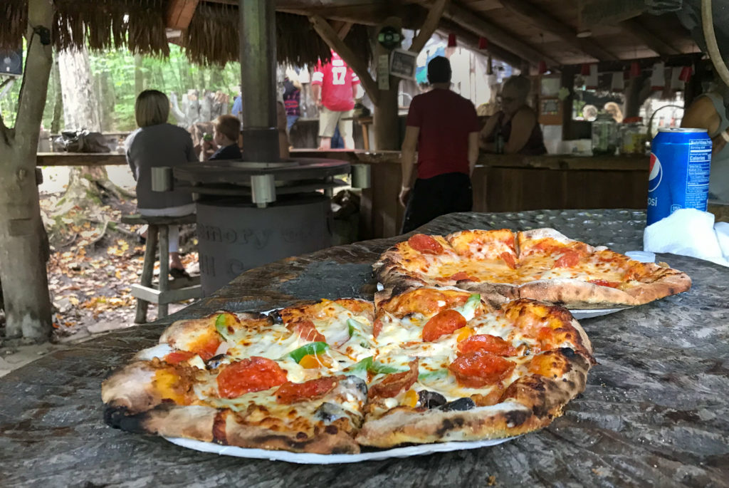 Pizza at Pollywog Holler in Belmont, New York, Allegany County